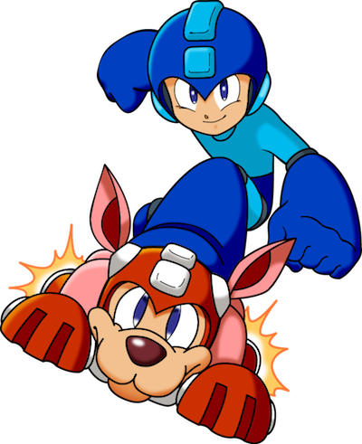 Mega Man on Rush